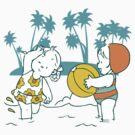 Girls at the Beach by KimberlyMarie