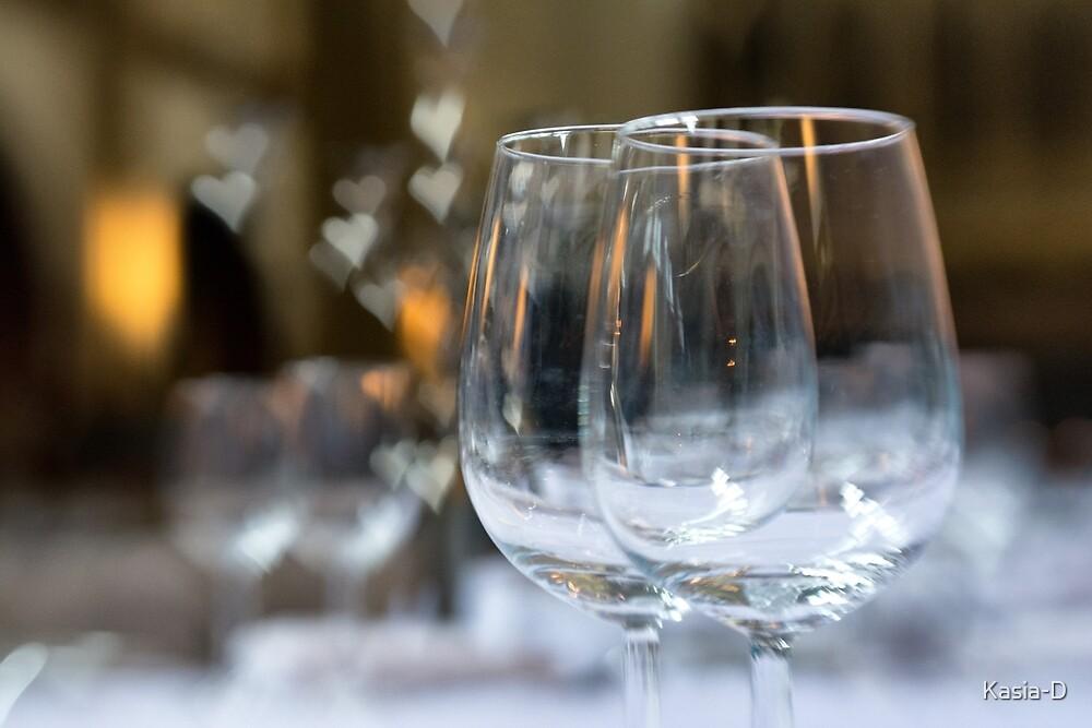 Wedding Breakfast Glasses by Kasia-D