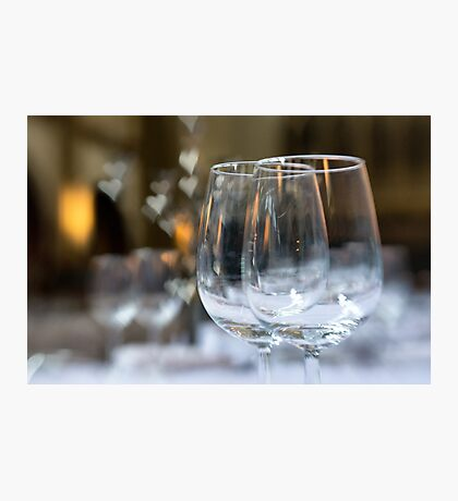 Wedding Breakfast Glasses Photographic Print