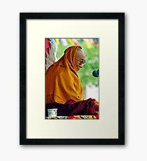 HH Dalai Lama. pin valley, northern india Framed Print