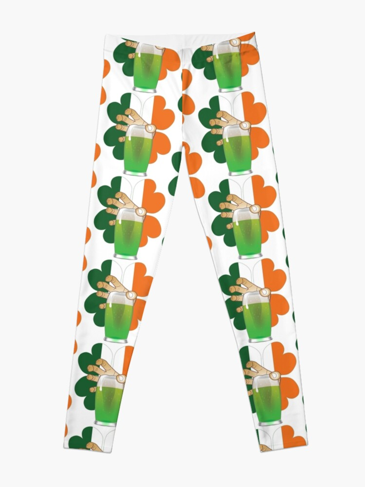 5023384c9da505 Irish Flag Four Leaf Clover Green Beer St Patricks Day Shirt Leggings