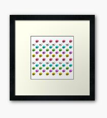 Dripping With Sarcasm Pattern Framed Print