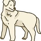 Happy Labrador Retriever Sticker by lizzyisanonion