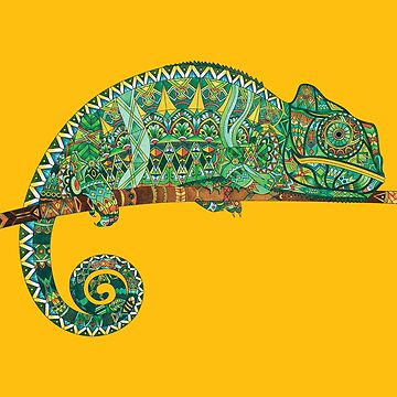 CHAMELEON - Adult Colouring | COLOURING - ARTWORKS by mcaussieb