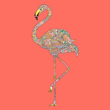 Flamingo - Adult Colouring | COLOURING - ARTWORKS by mcaussieb