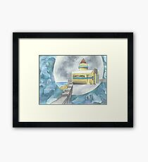 """Riesenkamera"" - Aquarell von Robin Galante. Gerahmtes Wandbild"