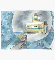 """""""Giant Camera"""" - watercolor painting by Robin Galante.  Poster"""