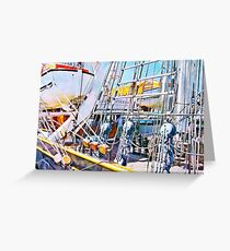 Stad Amsterdam - Ropes Greeting Card
