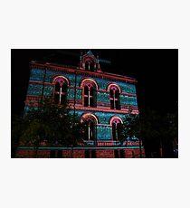 Coloured  Building Photographic Print