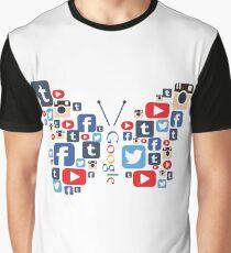 Camiseta gráfica Mariposa social