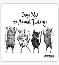 Say No to Animal Testing - Purita Mok  Sticker