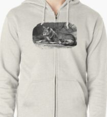 Black and white illustration of the Dingo Zipped Hoodie