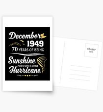 December 1949 Sunshine Mixed With A Little Hurricane Postcards