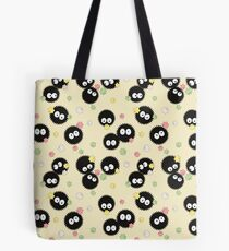 Ghibli Inspired Soot Sprites with Candy Pattern Tote Bag