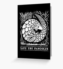 Vom Aussterben bedrohte Tierarten - Save the Pangolin Grußkarte