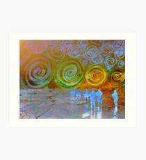Spiral Sea and Heaven Art Print