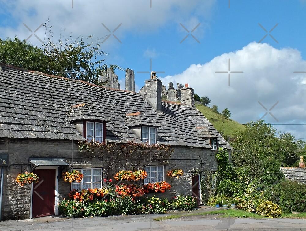 Corfe Castle Cottages by Yampimon
