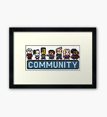8-Bit Community  Framed Art Print