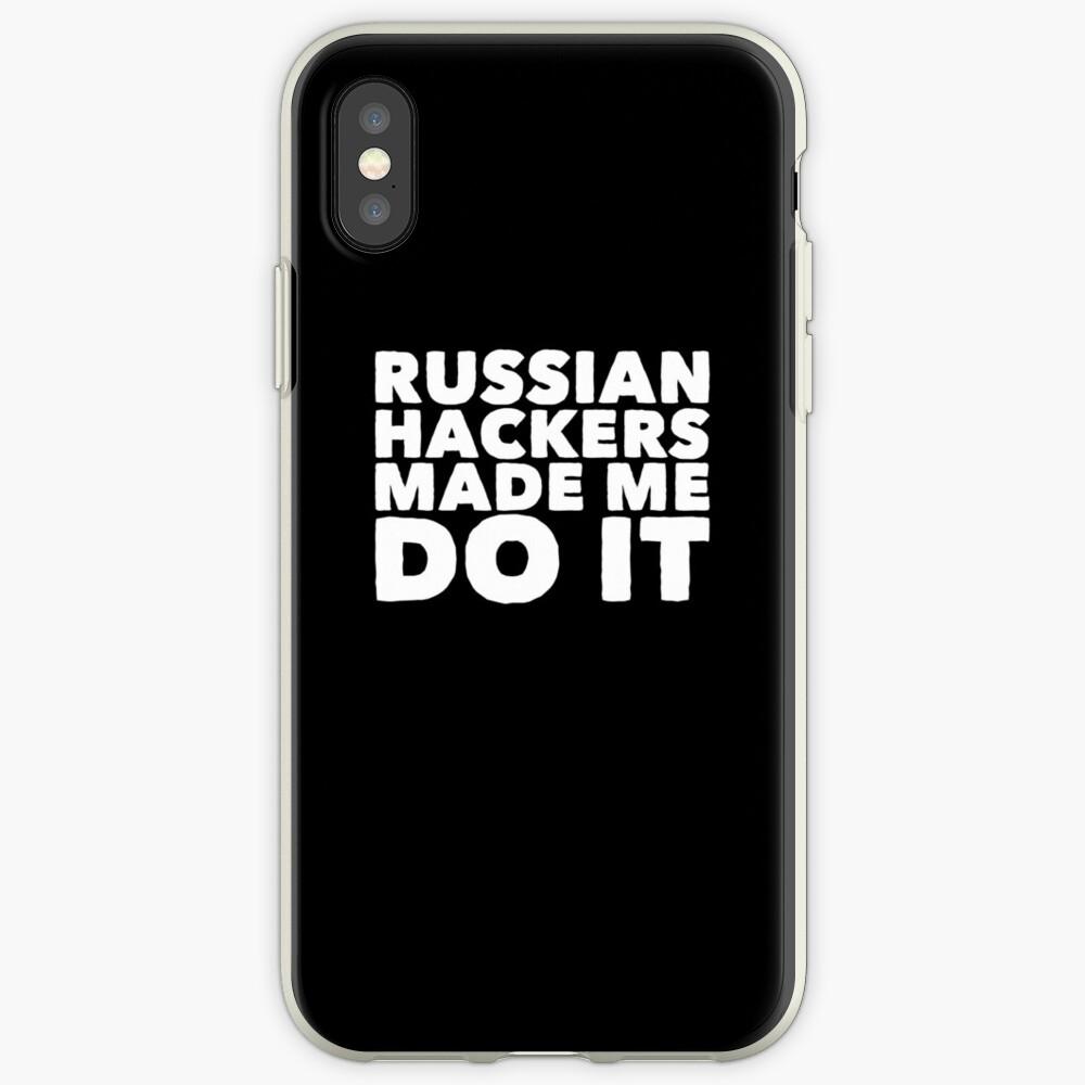 Russische Hacker ließen mich es tun - lustiger Russe iPhone-Hülle & Cover