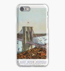 Great East River suspension bridge 1892 iPhone Case/Skin
