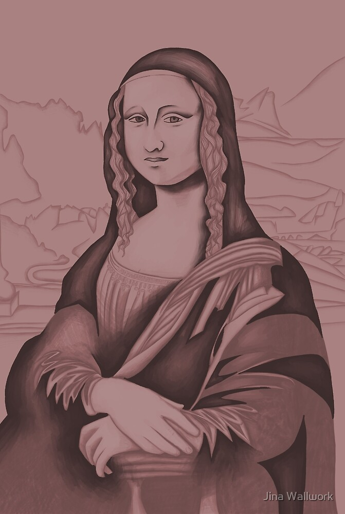 Mona Lisa 15 by Jina Wallwork