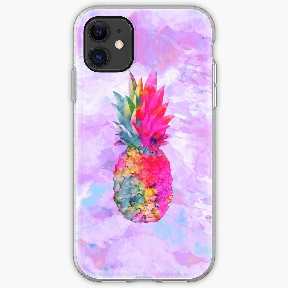 Bright Neon Hawaiian Pineapple Tropical iPhone Case & Cover