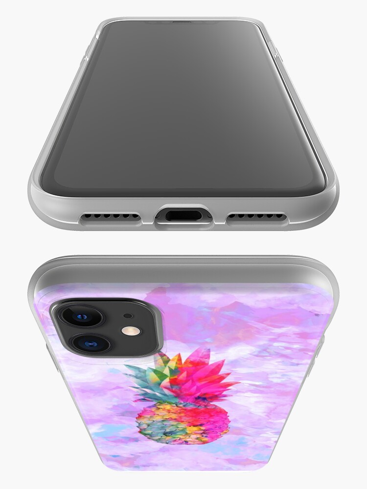 Alternate view of Bright Neon Hawaiian Pineapple Tropical iPhone Case & Cover