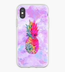 Bright Neon Hawaiian Pineapple Tropical iPhone Case