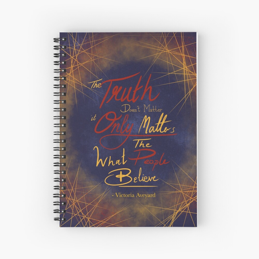 Red Queen Quotes Spiral Notebook