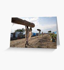 Refugee Camp, South Sudan Greeting Card