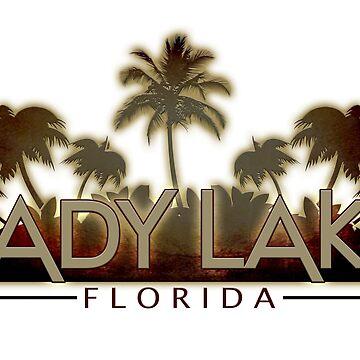 Lady Lake Florida palm tree words by artisticattitud