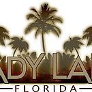 Lady Lake Florida palm tree words by artisticattitud