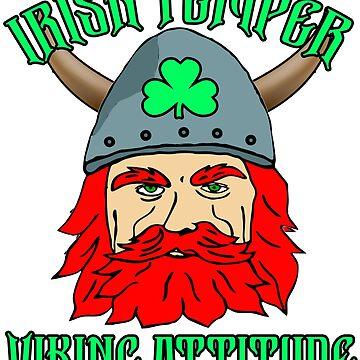 Irish Temper Viking Attitude Funny Meme St. Patrick's Day by funnytshirtemp