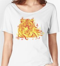 Tiger Face Women's Relaxed Fit T-Shirt