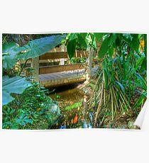 Pond & Footbridge2 (HDR) Poster