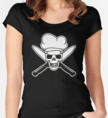Chef skull Women's Fitted Scoop T-Shirt