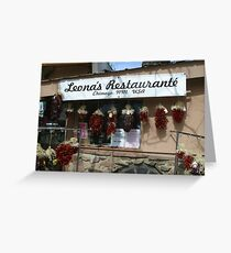 Leona's Restaurant, Chimayo, New Mexico Greeting Card