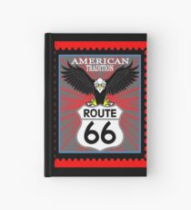 Route 66 American Tradicion, Route 66 sign  Hardcover Journal