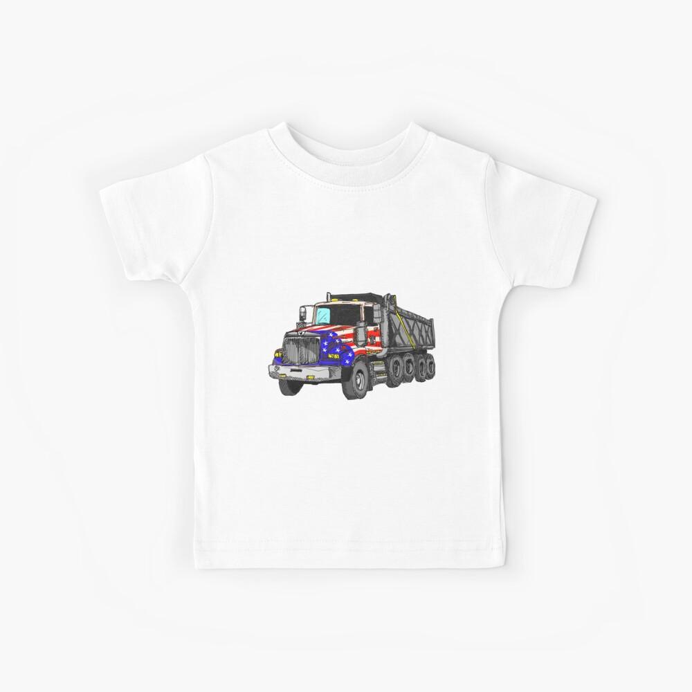 Camión volquete americano de Estados Unidos Camiseta para niños
