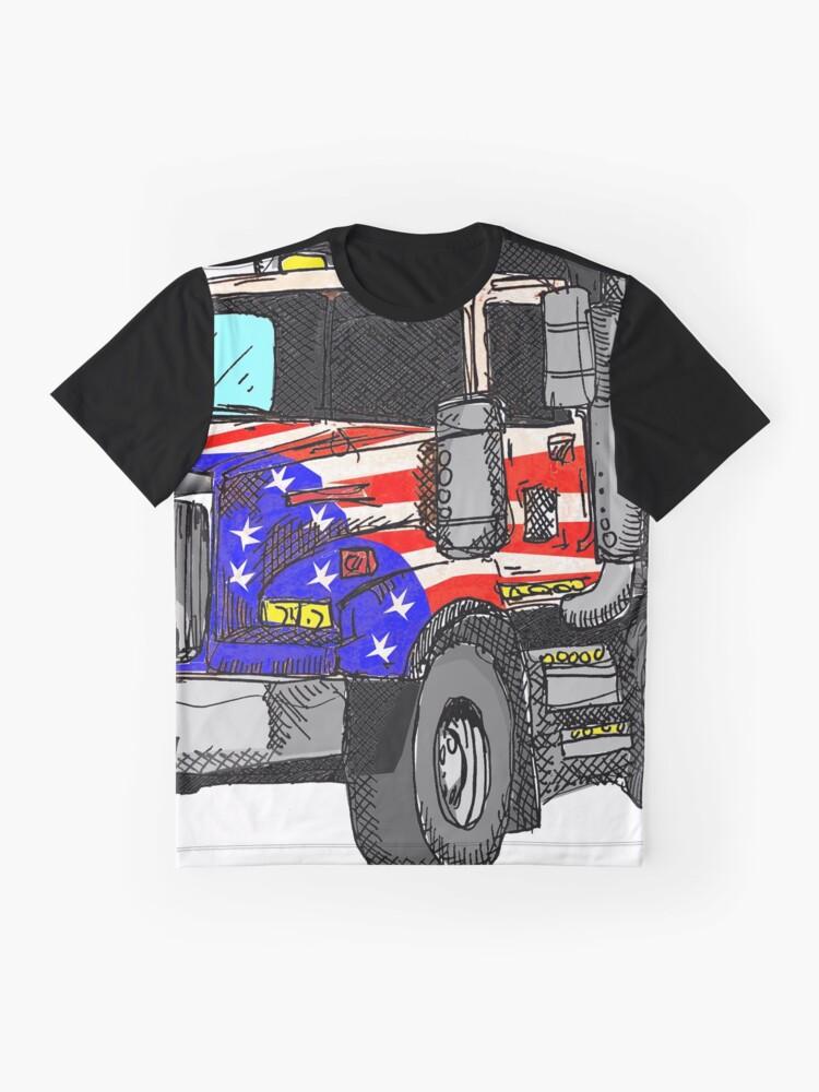 Vista alternativa de Camiseta gráfica Camión volquete americano de Estados Unidos