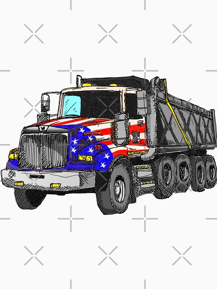 Camión volquete americano de Estados Unidos de Statepallets