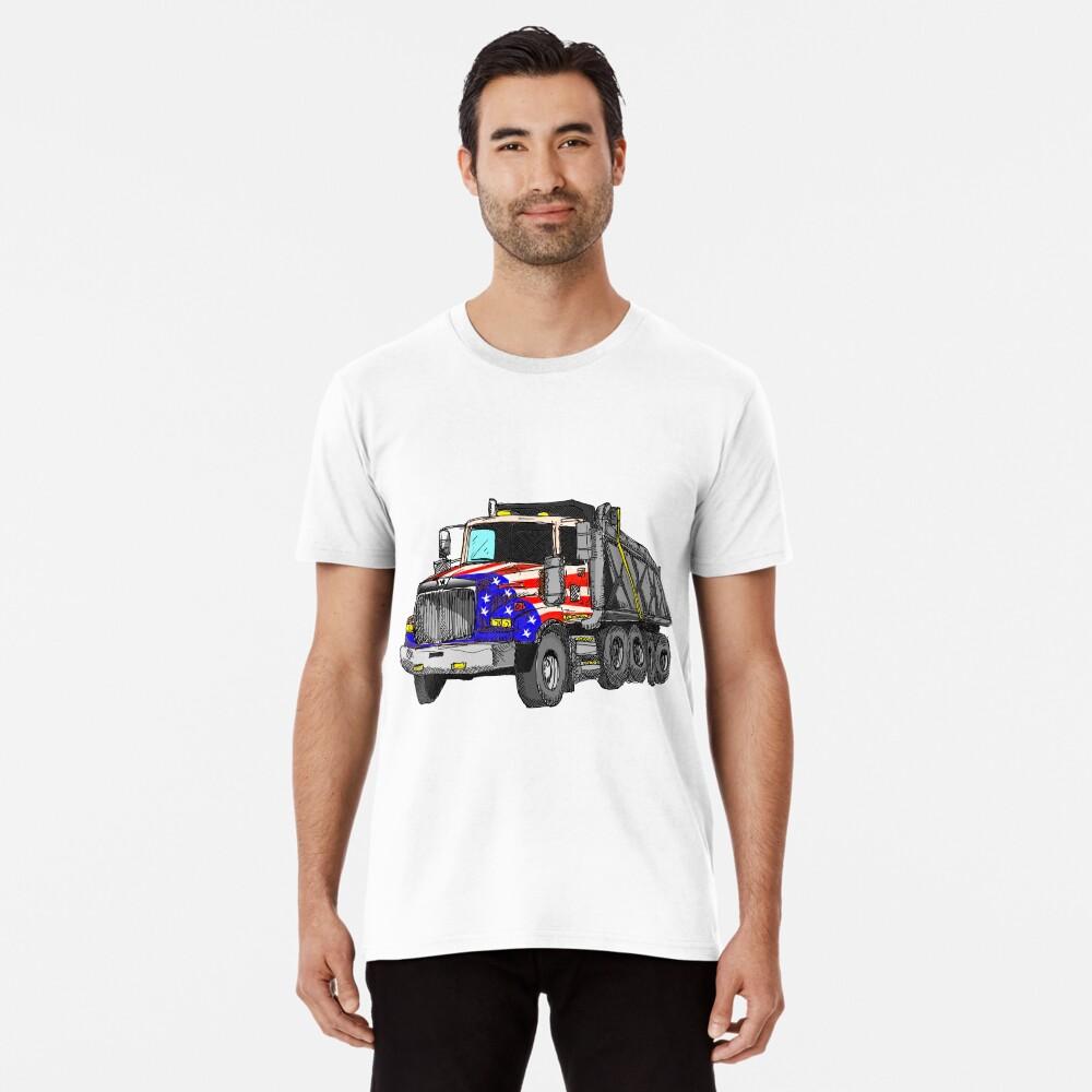 Camión volquete americano de Estados Unidos Camiseta premium