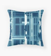 Tinit of Blue & Green Throw Pillow