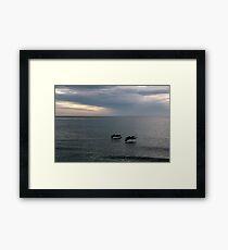 Pelican Pair - Naples Beach, Florida Framed Print