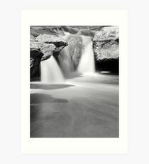 Mckinney Upper Falls B&W Art Print