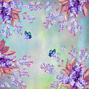 Purple lilac Lavender Wedding decor by NadineMay