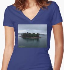 How wonderful life is now you're in the world. This is my song .  Åland Islands . Women's Fitted V-Neck T-Shirt