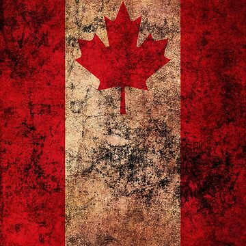 Canadian Flag Old Weathered Distressed Worn Grunge Style by BennyBearProof