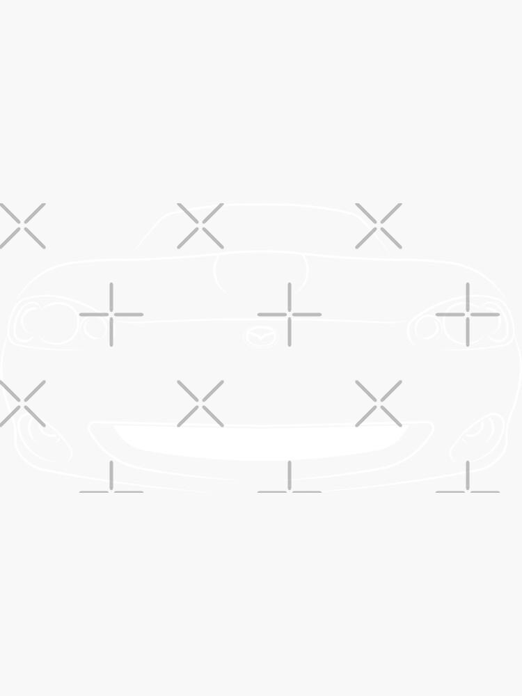 Quot Mazda Miata Mx 5 Nb Front Stencil White Quot Sticker By