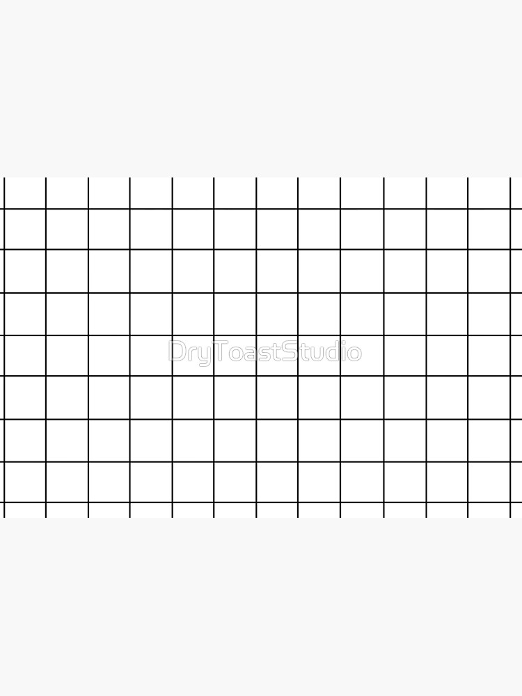 Black grid pattern on white background  by DryToastStudio